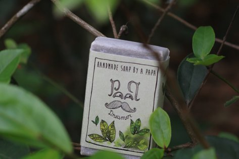 Soap from Green Tea powder